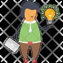 Creative Idea Bright Idea Creative Thinking Icon