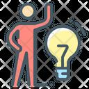 Creative Idea Bulb Idea Icon
