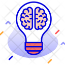 Brain Bulb Creative Ideas Icon