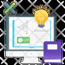 Creative Learning Digital Education Online Education Icon