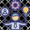 Creative Man Businessman Control Icon