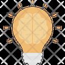 Creative Mind Brain Brainstorming Icon