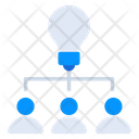 Innovative Network Creative Network Communication Idea Icon