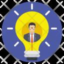 Idea Bulb Man Icon