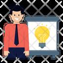 Idea Creative Presentation Creative Demo Icon