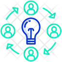 Creative Process Employee Network Teamwork Icon