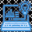 Laptop Computer Light Icon