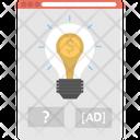 Creative Screen Advertising Idea Advertising Solution Icon
