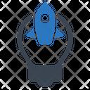 Startup Rocket Creative Icon