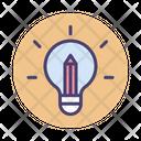 Creative Teaching Book Creative Idea Icon