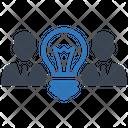 Creative Team Ability Brainstorming Icon