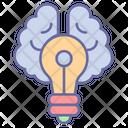 Creative Thinking Brain Decision Icon