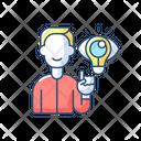 Creative Thinking Human Icon