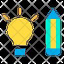 Pencil Bulb Light Bulb Icon