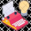Innovative Typewriting Creative Typewriting Typewriting Idea Icon