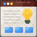 Creative Website Creative Idea Innovative Website Icon