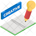 Creative Writing Content Writing Journal Icon