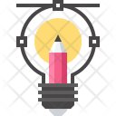 Creativity Bulb Art Icon