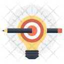 Bulb Pencil Light Icon