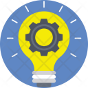 Light Bulb Cog Icon