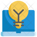Lightbulb Laptop Idea Icon