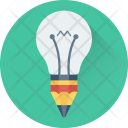 Creativity Pencil Bulb Icon