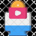 Creator Content Video Icon