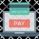 Credit Card Laptop Icon