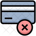 Credit Card Cancel Icon