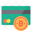 Credit Card Money Bitcoin Cryptocurrency Credit Card Debitcard Icon