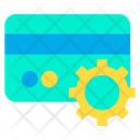 Configuration Credit Card Gear Icon