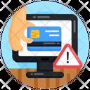 Online Banking Ebanking Error Credit Card Error Icon