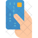 Credit card in hand Icon