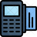 Credit card nfc and payment terminal Icon
