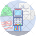 Credit Card Receipt Credit Bill Credit Payment Icon