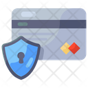 Credit Card Security Card Protection Locked Card Icon