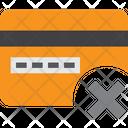 Credit Card X Remove Card Delete Card Icon