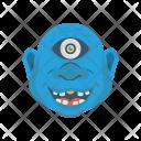 Creepy Monster Halloween Icon