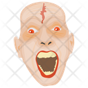 Creepy Face Scary Face Terrible Face Icon