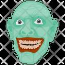 Creepy Face Horror Face Terrible Face Icon