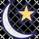 Crescent Moon Moon Star Icon