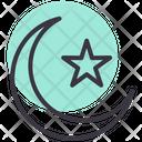 Moon Ramadan Star Icon