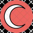 Crescent Moon Satellite Icon