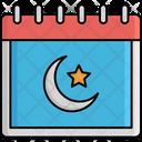 Crescent Calendar Islamic Date Ramadan Icon