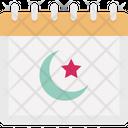Crescent Calendar Icon