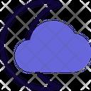Crescent Clouds Icon