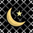 Crescent Moon Star Icon