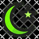 Crescent Moon Night Ramadan Icon
