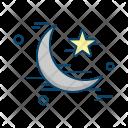 Crescent Star Islamic Icon