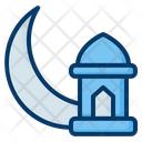 Crescent Moon Lantern Mosque Icon